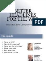 SEO and Web Headlines