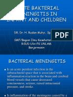 Acute Bakterial Meningitis in Infant and Children