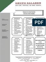 Carta de Presentación Con Oficio y Temas en Hoja Membretada