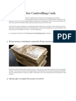 10 Top Tips for Controlling Cash
