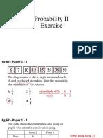 Probability II Exercise