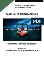 Manual de orientación XXIII Campori 2019