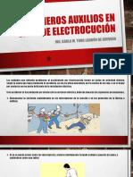 Primeros Auxilios en Caso de Electrocución