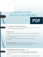 Communication Models and Theories