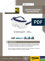 Lente de Seguridad Top Gun Optico