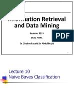 Lecture 10 Naïve Bayes Classification