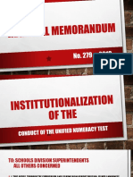 General Guidelines on the Administration of the Unified