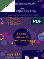 Control Interno de Una Empresa