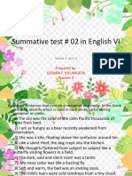 Summative Test No. 2 English 6