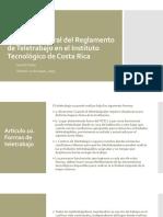 Reglamento Teletrabajo Mayo 2019