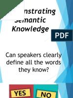 Demonstrating Semantic Knowledge Presentation