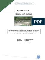 ESTUDIO HIDROL. TORIBIO