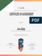 genius  certificate