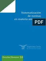 Sistematización de normas en materia ambiental