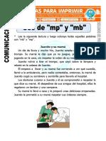 Ficha de Uso de Mp y Mb Para Segundo de Primaria