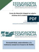 Normatividad, Antecedentes y La Violencia Sexual en El Marco de SGSSS.
