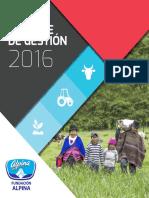 Fundacion Alpina Informe de Gestion 2016