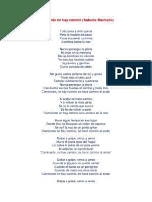 Caminante No Hay Caminodocx Poesía
