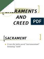 Sacraments and Creed