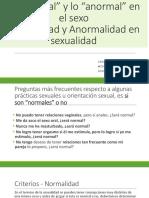 Normal Anormal en Sexo - Normalidad Anormalidad en Sexualidad