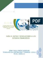 GUIA 24. NOTAS Y REVELACIONES A LOS ESTADOS FINANCIEROS.pdf