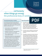 Openness and Honesty Professional Duty of Candour