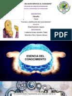 Esencia y clasificación del conocimiento