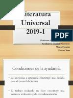 Ayudantía de literatura universal, Clásicos de la literatura universal