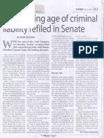 Manila Times, July 2, 2019, Bill lowering age of criminal liability refiled in Senate.pdf