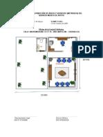 Croquis de Distribución de Áreas y Servicios Metrado