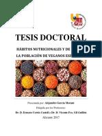 Tesis Doctoral - García Morant, Alejandro - Hábitos Nutricionales y de Vida en La Población de Veganos Españoles