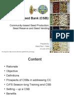 Community Seed Banking Lala 2019