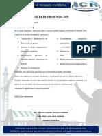 Carta de Presentacion Construcciones Carlos Rosado