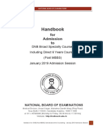 Handbook for DNB Post MBBS January 2019 Admission Session
