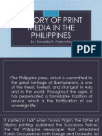 History of Print Media in the Philippines