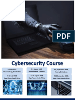 Cybersecurity Course July- Sep 2019