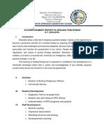 Accomplishment Report in AP