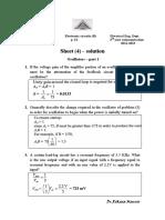 Sheet 4 Solution