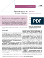 Application of Ch4 Technology on Thesynthesis of Methanol