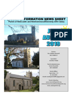 Parish News July/August 2019 for Newcastle & Newtownmountkennedy with Calary, Co. Wicklow, Ireland