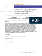 Mechanical Characterization of Expanded Polystyrene Spheres Embed