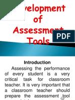 Development of Assessment Tools