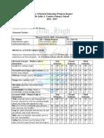 Year 2 Pe Progress Report Card Eastman