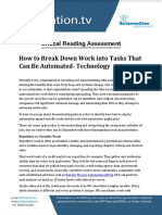 Crtical Reading Assessment