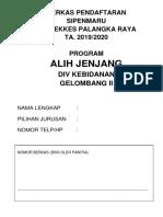 Formulir Pendaftaran Alih Jenjang Gelombang II