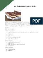 Prăjitura Karo
