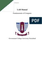 LAB Manual of Computer Fundamentals