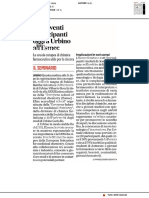 Centoventi partecipanti a Urbino all'Esmec - Il Corriere Adriatico del 1 luglio 2019