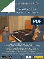Cartel Saxofón y Piano