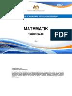 Dokumen KSSR Matematik Tahun 1